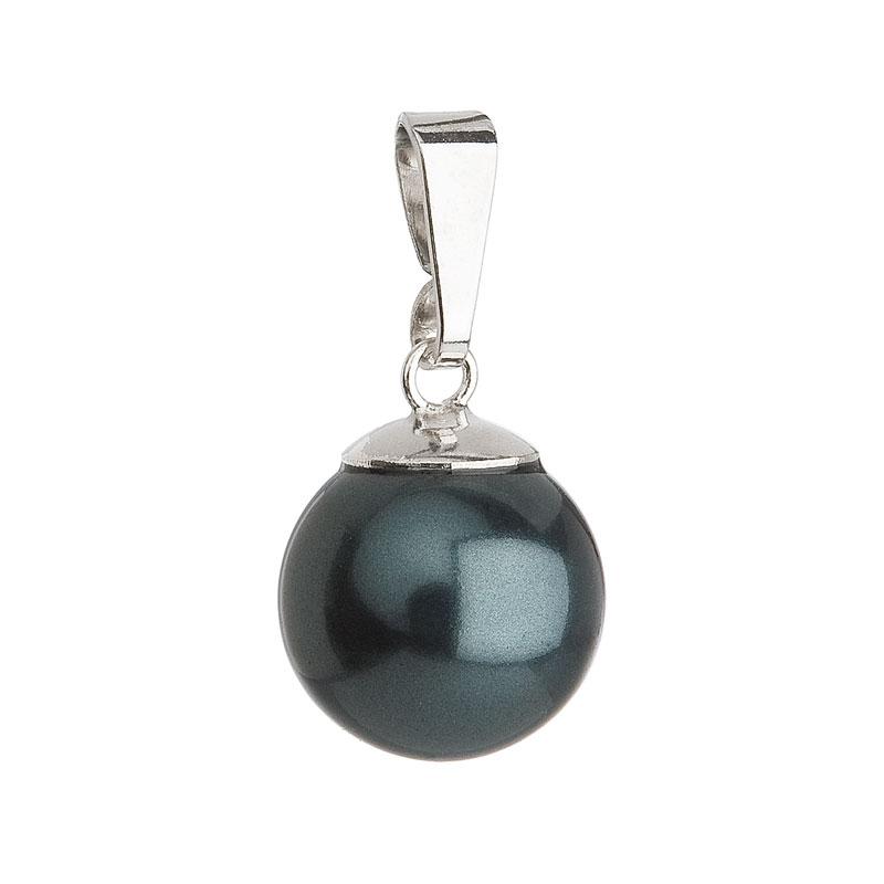 Stříbrný přívěsek se zelenou kulatou perlou 734150.3