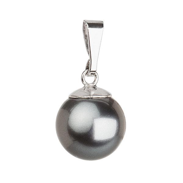 Evolution Group Stříbrný přívěsek s šedou kulatou perlou 734150.3