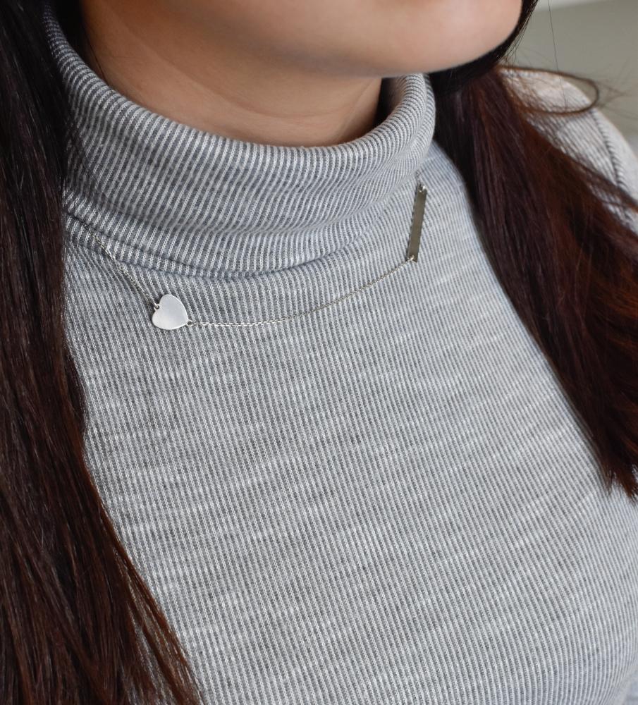 Stříbrný náhrdelník se srdcem 72049.1