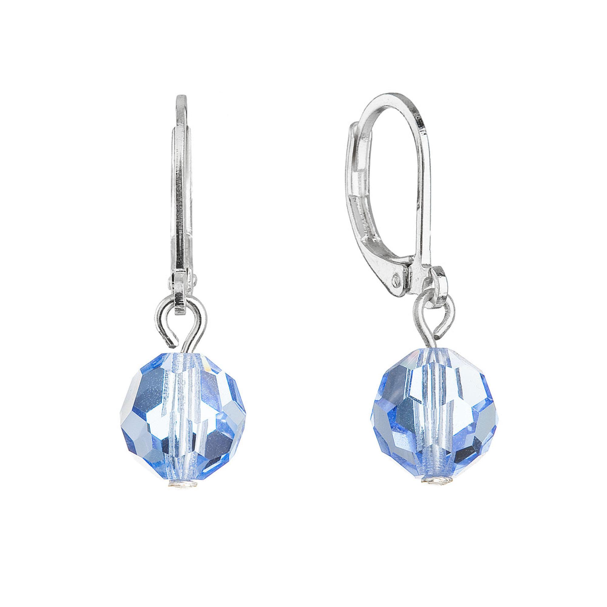 Evolution Group Visací náušnice s modrými krystaly 71130.3 light sapphire