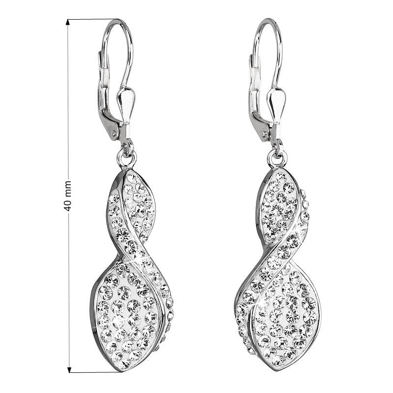 Popis produktu · Související zboží (1) · Parametry. Stříbrné náušnice  visací s krystaly Swarovski bílé spirála 31160.1 8c13730925c
