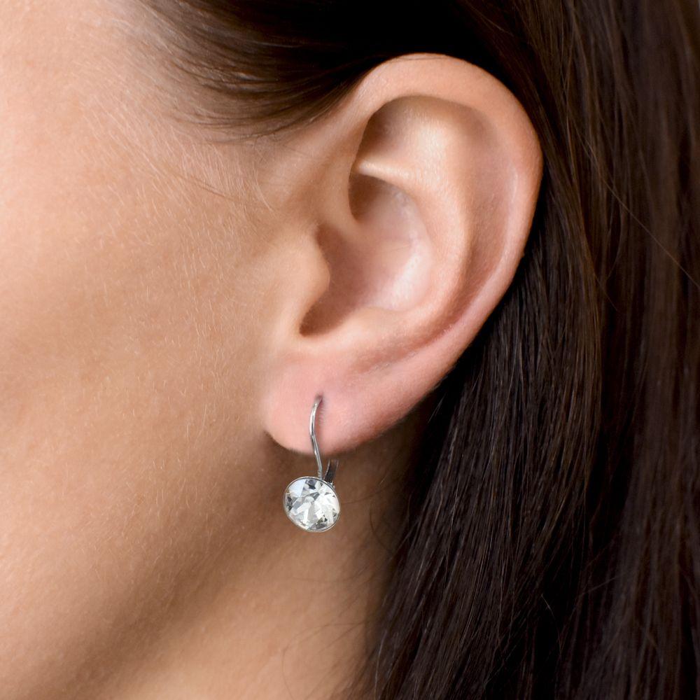 Evolution Group Sada šperků s krystaly Swarovski náušnice a přívěsek bílé kulaté 39140.1