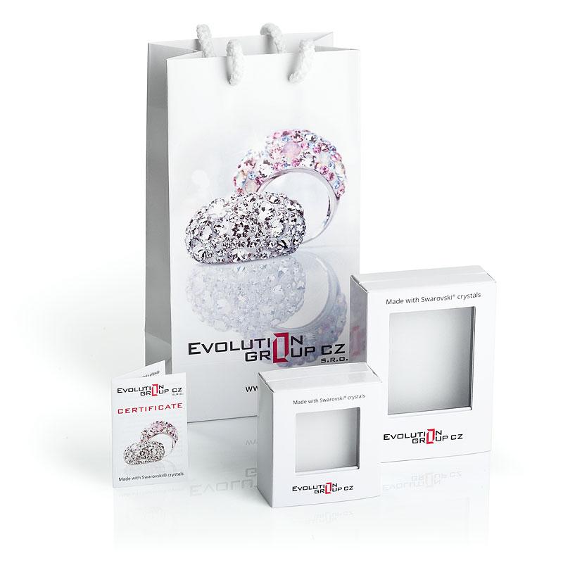 Evolution Group Náramek proti uhranutí stříbrný kulatý krystaly 13004.3 červený